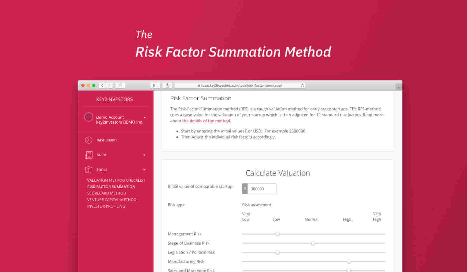 RFS Method Calculation Tool
