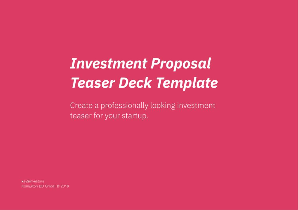 Investment Proposal Teaser Deck Slide1