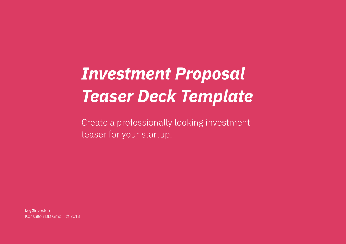 How To Create A Professional Investment Proposal Document