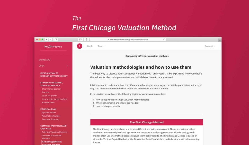 First Chicago valuation method