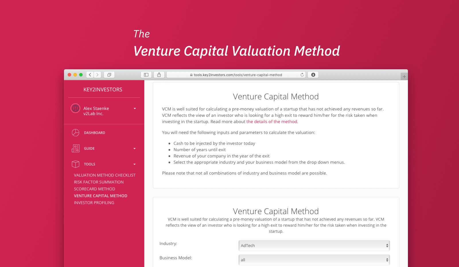 Venture Capital Method Calculation Tool